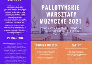 Pallotyńskie Warsztaty Muzyczne 2021